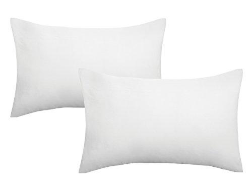biberna 0077144 Kopfkissenbezug Feinjersey, gekämmte Baumwolle, superweich 2x 40x60 cm weiß