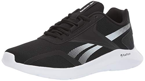 Reebok Men's ENERGYLUX 2.0 Running Shoe, Black/Black/White, 10.5 M US