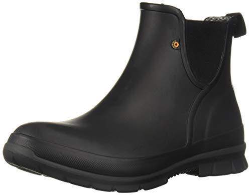 BOGS Women's Amanda Plush Slip ON Chukka Boot, Black, 8 Medium US