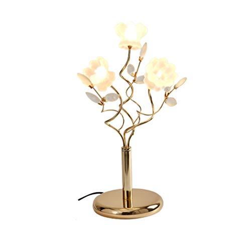 Clásico estilo europeo lámpara de mesa de cristal con el botón del interruptor de cristal metal Desk Lamp Lámpara de lectura para dormitorio y salón 19 pulgadas Lámpara de mesa