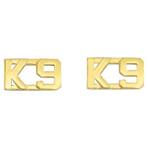 """Smith & Warren 1/2"""" K 9 Collar Brass Insignia Gold Finish"""