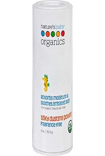 Natures Baby Organics Silky Dusting Powder Fragrance Free 4 oz