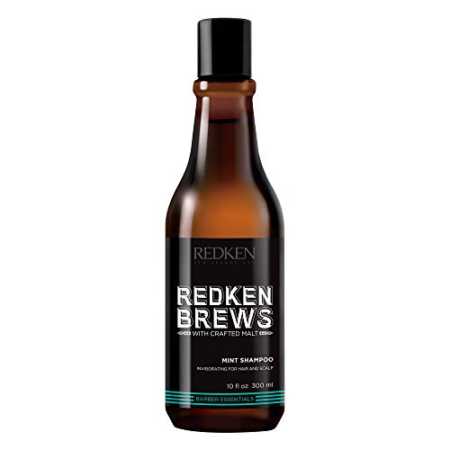 Redken Brews Mint Shampoo For Men, Energizing Mint Scent With Menthol For Soothing