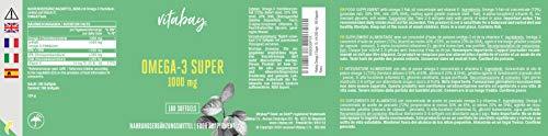Vitabay Omega 3 Super 1000 mg (inkl. Fettsäuren EPA 300 mg DHA 200 mg) – 180 Kapseln - 2