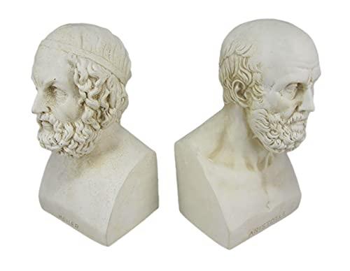 Buchstützen Aristotel und Homer Büste griechische Philosophie