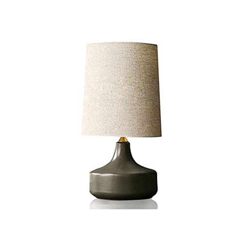 Zanzan lamparas de Escritorio Dormitorio de Estilo nórdico Moderno Lámpara de cabecera Simple Personalidad de cerámica Americana Retro cálida Lámpara de Mesa de luz cálida Iluminación