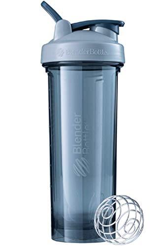BlenderBottle Pro32 Tritan Trinkflasche mit BlenderBall, optimal geeignet als Eiweiß Shaker, Protein Shaker, Wasserflasche, BPA frei, skaliert bis 700 ml, Fassungsvermögen 940 ml, pebble grau