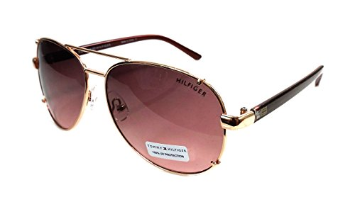 Tommy Hilfiger Bradshaw - Gafas de sol (metal), color dorado y rosa