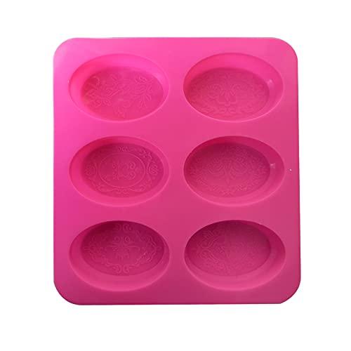 SM SunniMix Stampi per Sapone ovali in Silicone, 7 cavità per Fiori Fatti a Mano in Pizzo, stampi per Sapone per la Produzione di Candele, stampi per Torte in