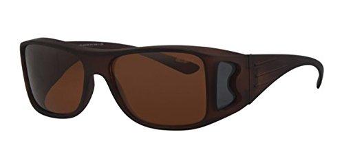 REVEX Polarisierte Überbrille Sonnenbrille für Brillenträger CAT 3 braun