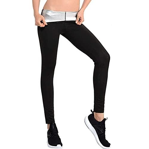 Pantalones de pérdida de Peso Pantalones de Sauna, Mujeres sudando Pantalones adelgazantes Leggings de pérdida de Peso hasta los Tobillos Sudor Fitness Sweat Suit