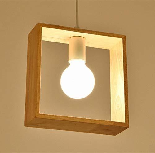 Attan Lampshade Wicker Bamboo Light Shade Ceiling Hexagon Wooden Pendant Lamp Modern Ceiling Light Wood Lampshade Classical Lighting Fixture, E26/E27 Base