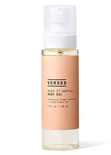 Versed Keep It Supple Body Oil 4 Fl. Oz! Blend With Nourishing Calendula Flower Extract And Moisturizing Oil! Cruelty Free, Paraben Free and Vegan! Choose Your Skincare Treatment! (Body Oil)