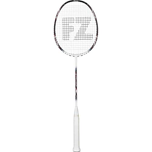 FZ Forza Light 6.1 Badminton/Squash Racket, 4U-G5, 80 g, Light Blue, Medium Balance with Medium Shaft, for Fast Attacking Players, Strung, Max. Tension at 25-26 lbs, Racket Cover Included