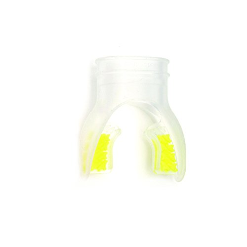 Innovative Scuba Concepts Mouthpiece with Shark Fin Bite Tab, Clear/Yellow