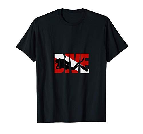 Flagge Taucher Geschenk für Tauchurlaub und Tauchschein T-Shirt