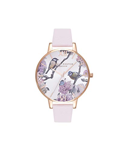 Olivia Burton Damen Analog Quarz Uhr mit Leder Armband OB16PL35