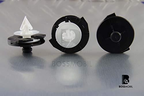 Original BOSSMOBIL kompatibel mit ZIERLEISTEN INNEN TÜRVERKLEIDUNG BEFESTIGUNG CLIP POLO #NEU# 6N0868243A 28, X 12 X 9,5 mm Menge: 20 Stück