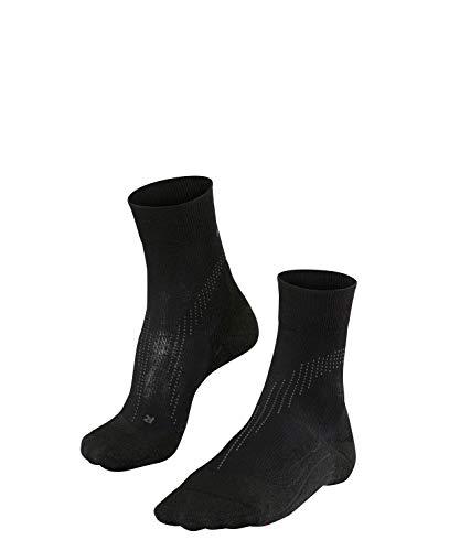 FALKE Damen Laufsocken Stabilizing Cool, Funktionsfaser, Wadenlange Socke mit Kompressionszone mit Bandageneffekt, 1er Pack, Schwarz (Black 3000), Größe: 41-42