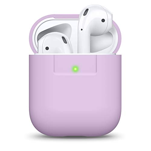 elago Funda AirPods Case Funda Premium Silicona Diseñado para Apple AirPods 1 & 2 (LED Frontal Visible) (Lavanda)