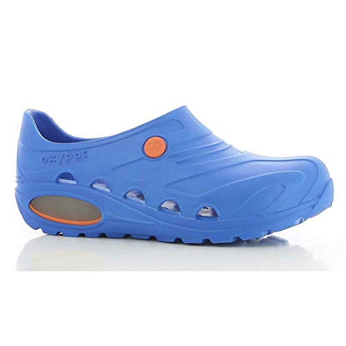 Oxypas Safety Jogger Berufsschuhe Oxyva Unisex-Erwachsene Arbeitsschuhe, Clogs, Farbe: Electric Blue, Gr: 41/42