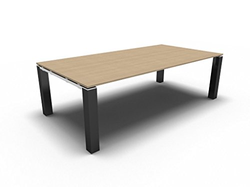 Konferenztisch JET EVO für 8 Personen, Besprechungstisch, Meetingtisch in verschiedenen Dekoren, Konferenzmöbel