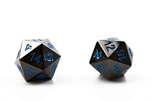 DND Metal Dice Set | 8 High Definiton, Polyhedral Dice for RPG, Dungeons & Dragons | by Hexblade Gaming | Inc. 2 x D20… 4