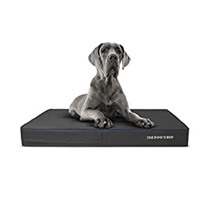 """Replacement Outer Cover ONLY (Outer Cover ONLY – NO Bed, NO Waterproof Inner) for The Dog's Bed, Washable Quality Oxford Fabric, XXL 54"""" x 36"""" x 6"""" (Grey with Dark Blue Piping)"""