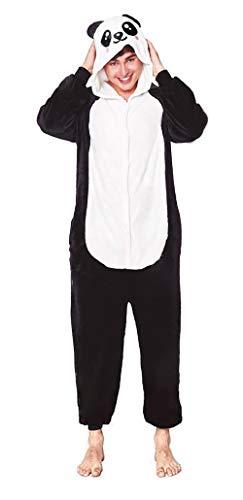 H HANSEL HOME Pijama Animal Oso Panda Mujer Hombre Adulto Unisexo Disfraces Animal Carnaval Halloween Cosplay Cómodo Suave - M