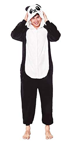 H HANSEL HOME Pijama Animal Oso Panda Mujer Hombre Adulto Unisexo Disfraces Animal Carnaval Halloween Cosplay Cómodo Suave - S