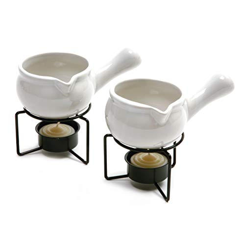 Norpro Ceramic Butter Warmers, Set of 2, 1/3 cup/3 oz, White