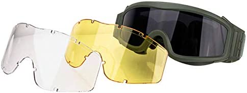 FOCUHUNTER Safety Glasses-Sport Glasses Dust Protection Eyewear, Driving Glasses, Military Eye Protection Goggles for Cycling, Hiking, Hunting, Shooting