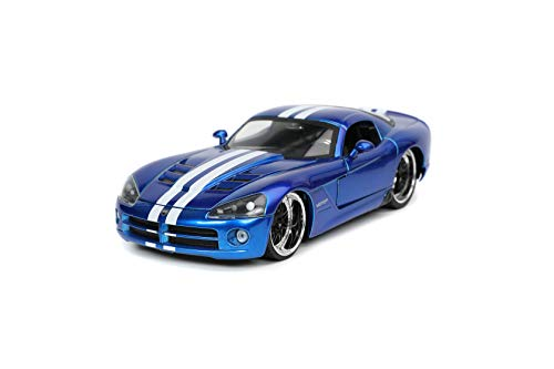 Jada Toys Bigtime Muscle 1:24 2008 Dodge Viper SRT10 Die-cast Candy Blue, Toys for Kids and Adults