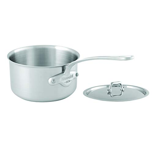 Mauviel Tri-Ply M'Urban 10 Piece Set Cast SS Handle pots, brushed stainless steel