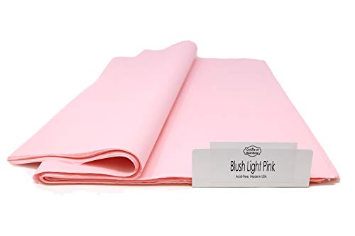 Colors of Rainbow – Blush Light Pink - Gift Wrapping Tissue Paper - 96 Sheets - 15 Inch x 20 Inch – Blush Light Pink