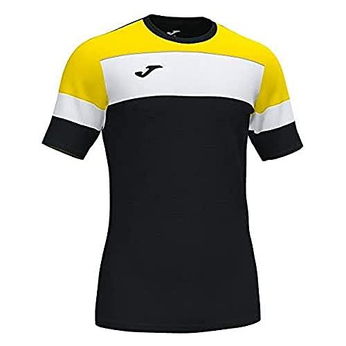 Joma Crew IV Camisetas Equip. M/C, Hombre, Negro Amarillo Blanco