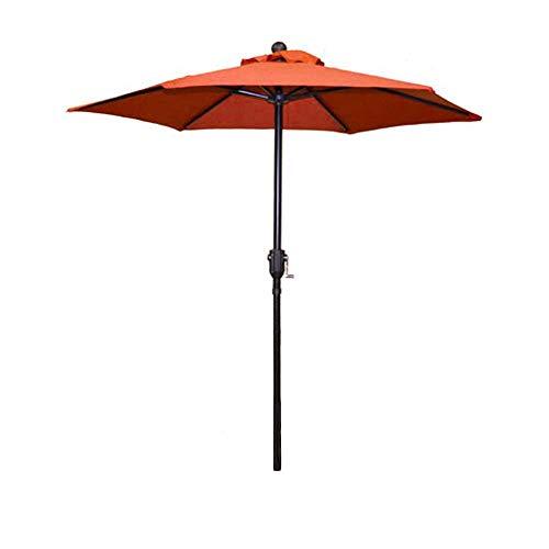 Patio Umbrella Outdoor Table Umbrella with 6 Sturdy Ribs and Crank 6 ft, Orange Umbrella