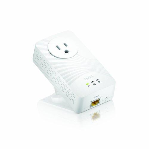 ZyXEL 600 Mbps Mini Powerline AV2 Gigabit Adapter with AC Pass Through (PLA5215)