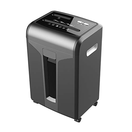 Lowest Price! 16-Sheet Cross-Cut Paper Shredder with Removable Universal Wheels, 31-Litre pullout Wa...