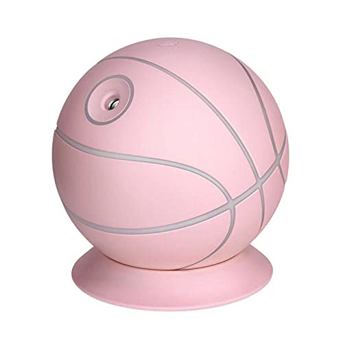 D-Rings Humidificador USB con diseño de pelota de baloncesto, color rosa