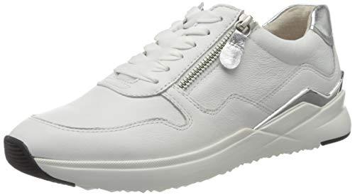 Gabor Damen Jollys 43.48 Sneaker, Weiß (Weiss/Silber 21), 41 EU