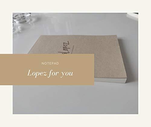 Bloc de Notas Lopez A5, Cuaderno de notas eco natural beige Tapa Blanda Cubierta de Kraft Páginas en crema Diario de Viaje Libreta Diarios para Escolar ejercicios de motivación inspiración.