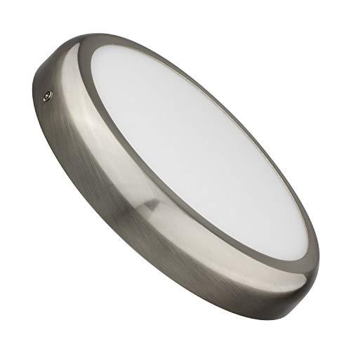 LEDKIA LIGHTING Plafón LED 24W Circular Design Silver Blanco Neutro 4000K - 4500K
