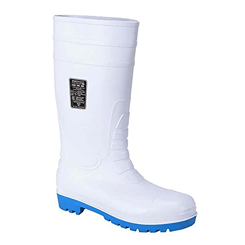 Portwest FW95WHR39 Stivale Total Safety Wellington S5, Bianco, 39