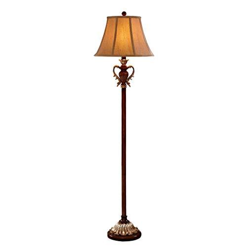 L-YINGZON American Retro lámpara de pie, de Estar Sala de Estudio Dormitorio lámpara de cabecera Lámparas de iluminación