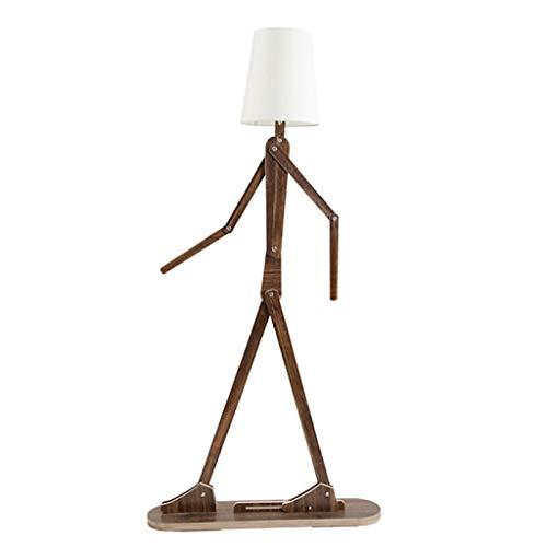 Lámpara de Pie Humanoide creativo Lámpara de pie de madera maciza Sala de estar Dormitorio Lámpara de pie Lámpara de Pie Moderna