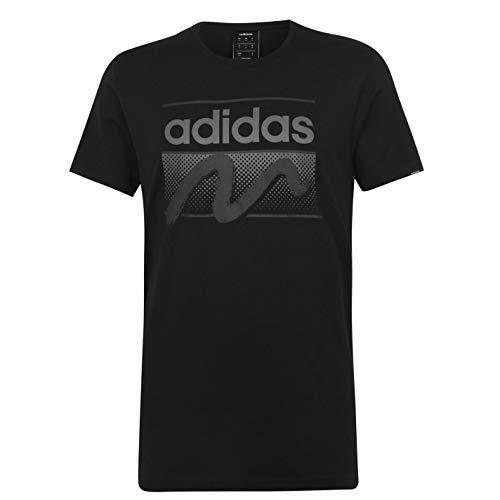 adidas QT - Camiseta de cuello redondo para hombre