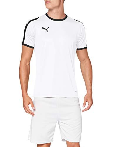 PUMA Liga Jersey T-Shirt, Hombre, White Black, M