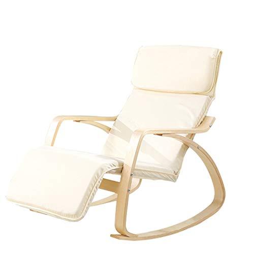 Zhengowen Mecedora Silla nórdica Mecedora Silla Fácil Mecedora Balcón de sillón reclinable...