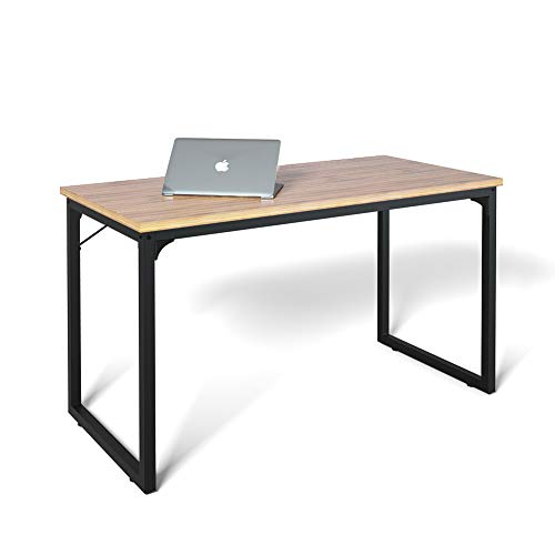 Computer Desk 47', Modern Simple Style Desk for Home Office, Sturdy Writing Desk, Coleshome, Walnut